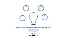 Copy of Dominant trends within Enterprise Systems 2013