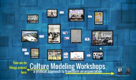 Culture Modeling Workshops