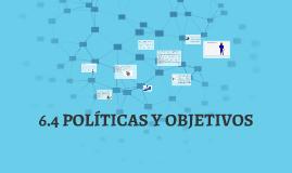 6.4 POLÍTICAS Y OBJETIVOS