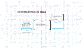Transition metals and colour