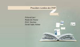 Procédure Gestion des documents maitres de fabrication
