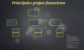 Principales grupos financieros