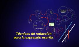 Copy of tecnicas de redaccion