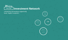 Rhiza Local Investment Network