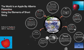The world is an apple by: francisco florentino using elements of short story