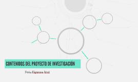CONTENIDOS DEL PROYECTO DE INVESTIGACIÓN
