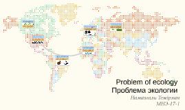 Problem of ecology