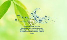 Implementación de máquinas biorecicladoras que fomentara la