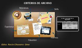 CRITERIOS DE ARCHIVO