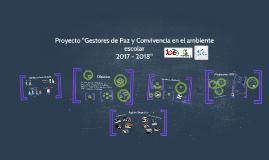 Proyecto Gestores de Paz y Convivencia
