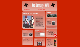 Nazi Germany- WWII