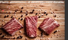 Plaisir alimentaires et développement durable