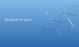 Thérapeute en sports