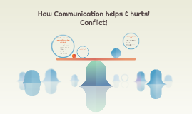 How Communication can help and hurts.