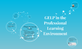GELP in the Professional Learning Environment