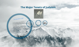 The Major Tenets of Judaism