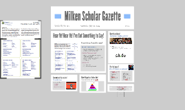 Milken Scholar Gazette