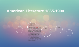 American Literature 1865-1900