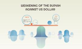 WEAKENING OF THE RUPIAH AGAINST US DOLLAR