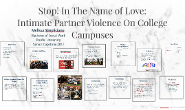 Stop! In The Name of Love: Intimate Partner Violence