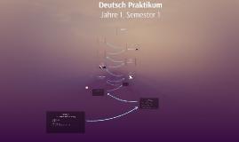 Deutsch Praktikum  - Jaar 1 - Semester 1