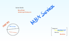 MBA Survival
