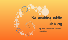 No smoking while driving