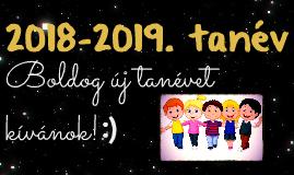 2018-2019. BEVEZETŐ TANÓRA