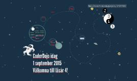 CoderDojo idag, 2015-09-01 (läsår 4)
