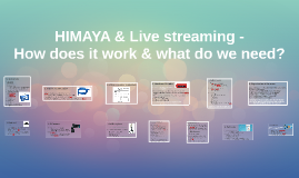 HIMAYA & Live streaming -