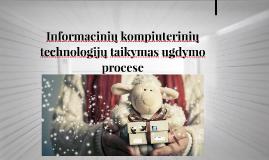 Informacinių kompiuterinių technologijų taikymas ugdymo proc