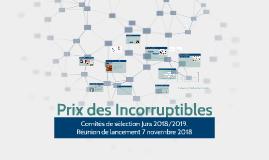 2018/2019 Comités de sélection 2016/2017 Prix des Incorruptibles