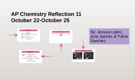 AP Chemistry Reflection 11