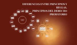 DIFERENCIAS ENTRE PRINCIPIOS Y REGLAS.