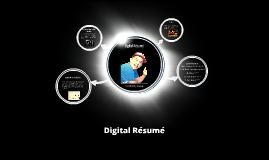 Digital Résumé