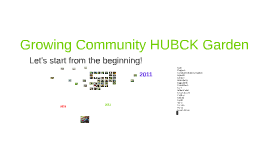 Growing Community HUBCK Garden