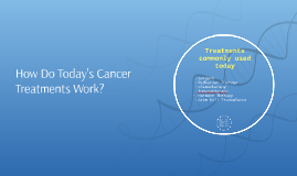 How Do Today's Cancer Treatments Work?