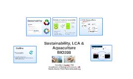 BIO208 Sustainability & Aquaculture