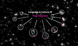 Language & Culture IV