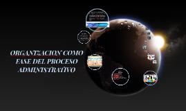 Copy of ORGANIZACION COMO FASE DEL PROCESO ADMINISTRATIVO