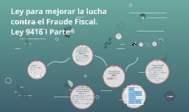 Ley para mejorar la lucha contra el Fraude Fiscal