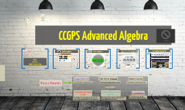 Copy of Revised Version of CCGPS Advanced Algebra