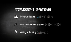 Reflective writing Jan 17