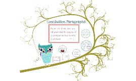 Copy of Conclusion Paragraphs