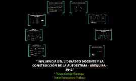 INFLUENCIA DEL LIDERAZGO DOCENTE Y LA CONSTRUCCION DE LA AUTOESTIMA