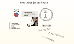 BAD things for our health