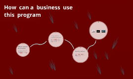 How  can a  business  use this  program
