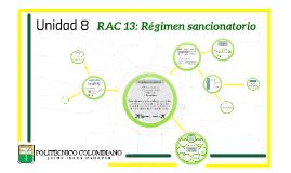 Unidad 8: RAC 13 Régimen sancionatorio