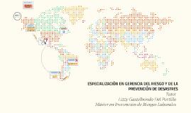 ESPECIALIZACIÓN EN GERENCIA DEL RIESGO Y DE LA PREVENCIÓN DE