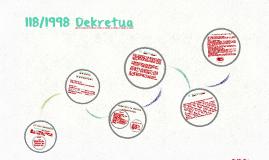 118/1998 Dekretua